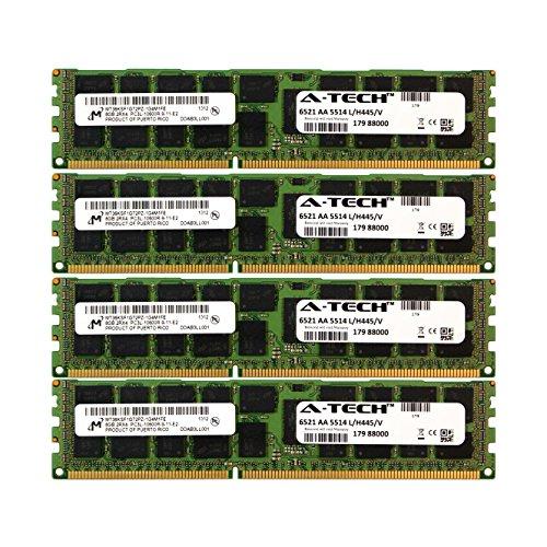 A-Tech Micron 32GB キット 4X 8GB PC3-10600 135V Dell Precision Workstation T5600 20D6F T7500 SNPJDF1MC16G T7600 A6996807